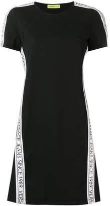 Versace logo stripe T-shirt dress