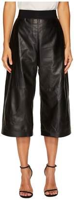 Neil Barrett Nappa Leather Wide Leg Pants Women's Casual Pants