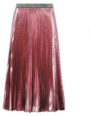 Christopher Kane Pleated silk-blend skirt
