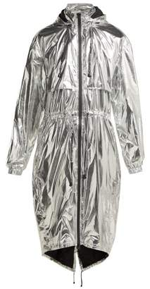 Paco Rabanne Reflective Technical Hooded Jacket - Womens - Silver
