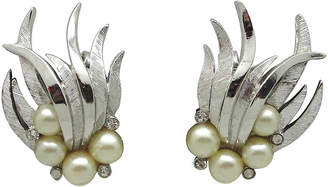 One Kings Lane Vintage Trifari Flame Earrings