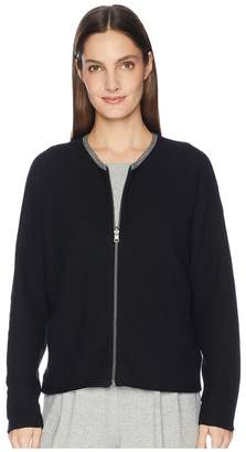 Eileen Fisher Peruvian Organic Cotton Round Neck Cardigan Women's Sweater