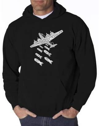 Pop Culture Men's hooded sweatshirt - drop beats not bombs