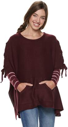 Steve Madden Nyc Juniors' NYC Lace-Up Poncho