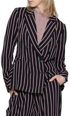 Walter Baker Striped Long-Sleeve Blazer
