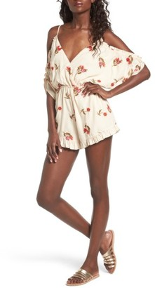 Women's Lovers + Friends Malia Off The Shoulder Romper $158 thestylecure.com