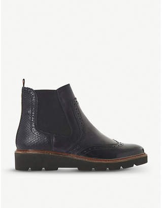 Dune Palomo punched leather chelsea boots