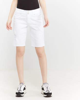 YMI Jeanswear White Wanna Betta Butt Bermuda Shorts