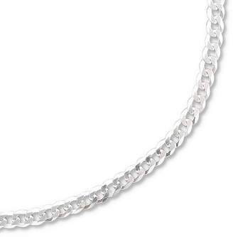 PRIVATE BRAND FINE JEWELRY Made in Italy Sterling Silver 20-28 3.2mm Curb Chain