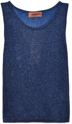 Missoni Sleeveless V-Neck Sweater in Navy