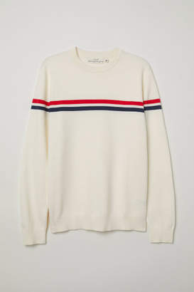 H&M Jacquard-knit Sweater - White