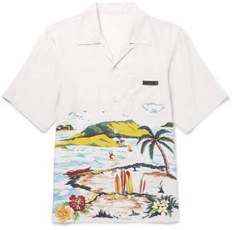 Prada Camp-Collar Printed Woven Shirt