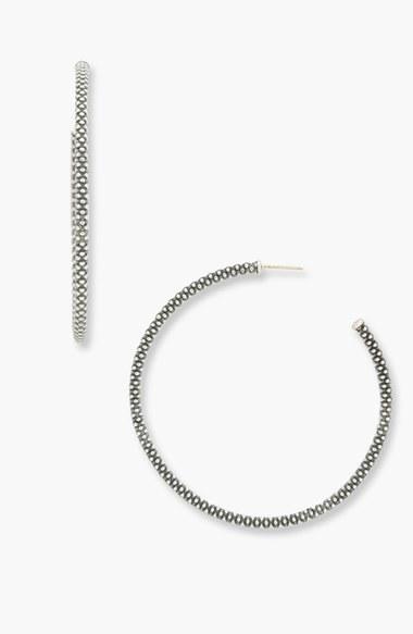 LAGOS Large Caviar Hoop Earrings