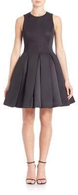 Halston Structured Fit& Flare Dress