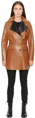 Dyed Nappa Leather Trench Coat $2,795 thestylecure.com