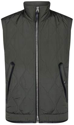 Tom Ford Quilted Leather Trim Gilet