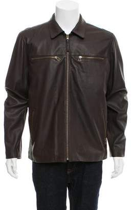 Vince Leather Zip-Up Jacket w/ Tags