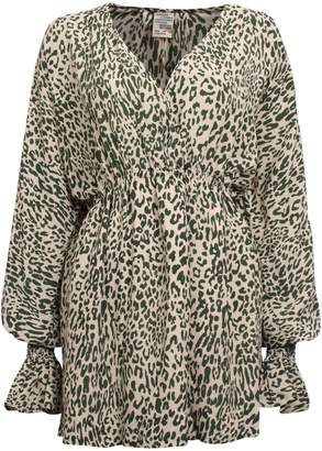 Baum und Pferdgarten It Takes A Family Aemiley Leopard-Print Mini Dress