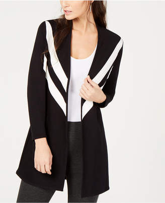 Alfani Striped Open-Front Cardigan, Created for Macy's