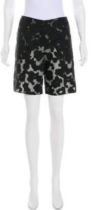 Nina Ricci Mid-Rise Jacquard Shorts