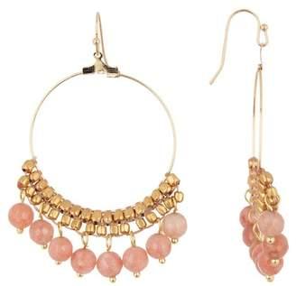 Panacea Peach Moonstone Drop Earrings