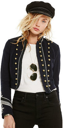 Ralph Lauren Denim & Supply French Terry Military Jacket $225 thestylecure.com