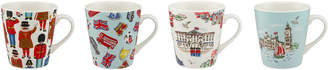 Cath Kidston London Town Set Of 4 Mini Stanley Mugs
