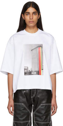 MSGM White Building T-Shirt