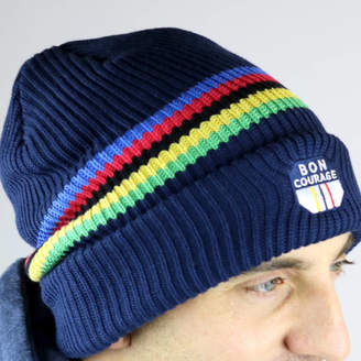 Bon Courage Cycling World Champs Stripe Beanie