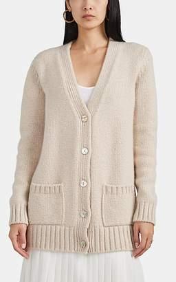 Barneys New York Women's Oversized Metallic Cashmere Cardigan - Beige, Tan