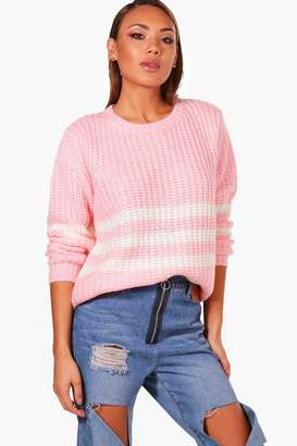 boohoo Lily Soft Knit Stripe Jumper