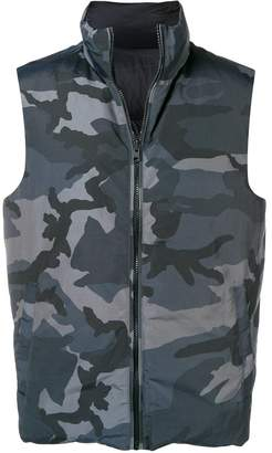 Woolrich padded camouflage gilet