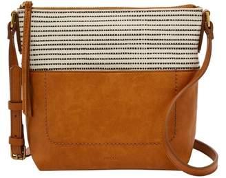 ba5138777bf9c Fossil Amelia Crossbody Handbags Black Stripe