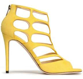 Jimmy Choo Ren Cutout Suede Sandals