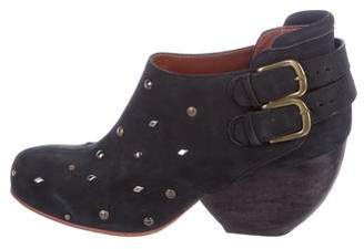 Rachel Comey Suede Studded Ankle Boots