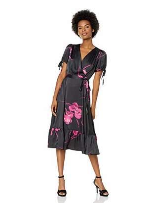 Betsey Johnson Junior's Vintage Floral Print Faux Wrap Dress
