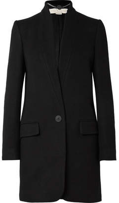 Stella McCartney Bryce Melton Wool-blend Coat - Black