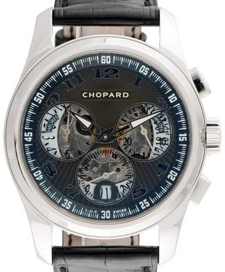 Chopard LUC Chrono One 161916-1001 18K White Gold 40mm Mens Watch