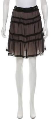 O'2nd Silk Knee-Length Skirt