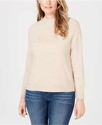 Karen Scott Luxsoft Mock-Neck Sweater