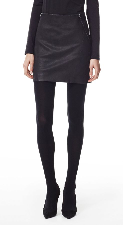 Theory Keila Skirt in Danish Leather