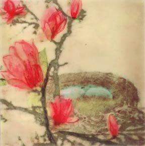 Hadley Hutton Robins Eggs Among Magnolias
