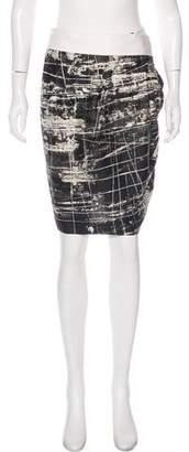 Max Mara Abstract Print Knee-Length Skirt