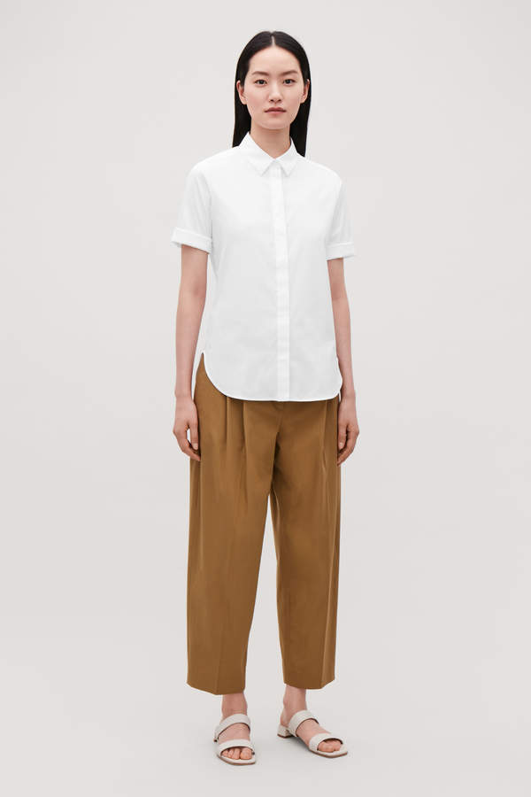 Cos SLIM SHIRT WITH TURN-UP SLEEVES