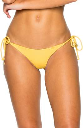 Luli Fama Ribbed Brazilian Side Tie Bikini Bottoms