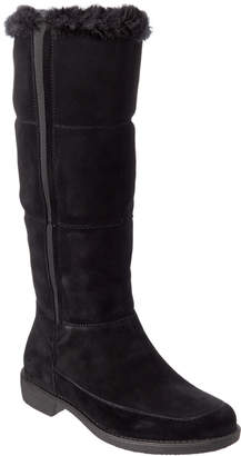 Taryn Rose Abbott Waterproof Suede Tall Boot