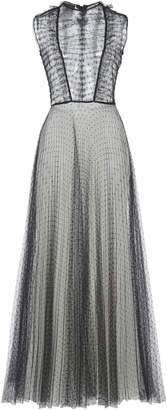 Giambattista Valli Pleated Swiss Dot Dress