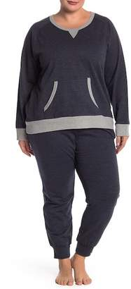 Couture PJ Plus Size Indigo Sweatshirt & Sweatpants Set