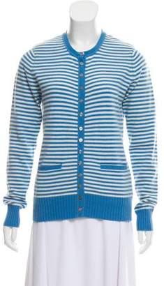 Tory Burch Striped Cashmere Cardigan