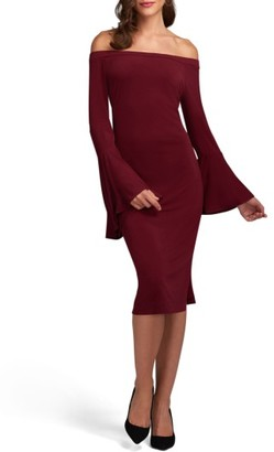 Women's Eci Off The Shoulder Midi Dress $88 thestylecure.com
